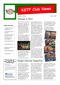 2014 Term 1 Newsletter