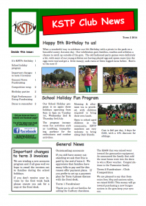 2014 Term 2 Newsletter