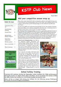 2014 Term 3 Newsletter