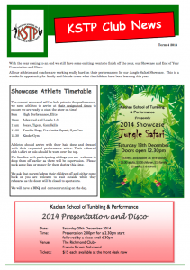 2014 Term 4 Newsletter