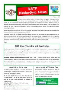 2014 Term 4 Kindergym