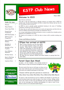 2015 Term 1 Newsletter