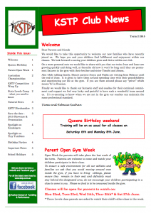 2015 Term 2 Newsletter